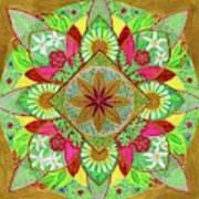 Flower Garden Mandala Poster