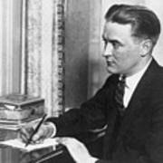 F.scott Fitzgerald Writing At Desk Poster