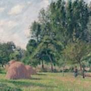 Haystacks, Morning, Eragny, 1899 Poster
