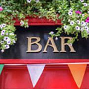 Irish Bar In Dublin Poster
