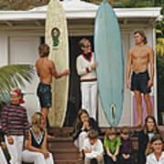Laguna Beach Surfers Poster