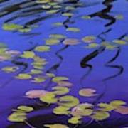 Lilies On Blue Water Poster