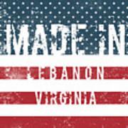 Made In Lebanon, Virginia Poster