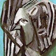 Man And A Bird Poster