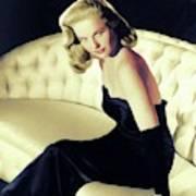 Martha Hyer, Vintage Actress Poster