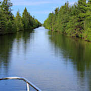 Narrow Cut On The Trent Severn Waterway Poster