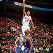 New York Knicks V Detroit Pistons Poster