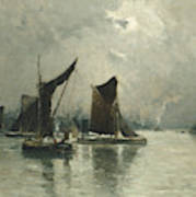 On The Thames  Poster