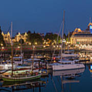 Panoramic Of Inner Harbor In Victoria Poster