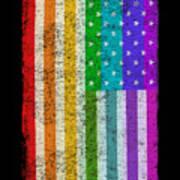 Rainbow Us Flag Poster