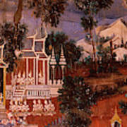 Ramayana Murals In A Palace, Royal Poster