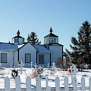 Russian Orthodox Church Ninilchik Alaska Poster