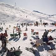 Skiers At Verbier Poster