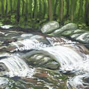 Asheville Mountain Stream Poster
