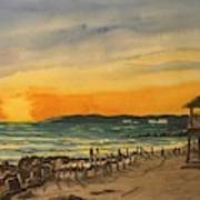Sunset On Bradenton Beach, Fl. Poster
