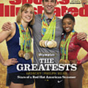 The Greatests Ledecky  Phelps  Biles Sports Illustrated Cover Poster