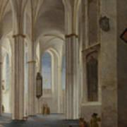 The Interior Of The Buurkerk At Utrecht  Poster