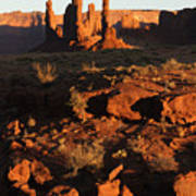 Totem Pole Formation At Sunset Poster