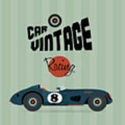 Vector Vintage Sport Racing Car Poster