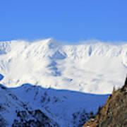Wind Blows Over The Kenai Mountains Alaska Poster