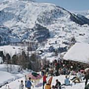 Zermatt Skiing Poster
