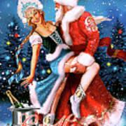 Vintage Soviet Holiday Postcard Poster