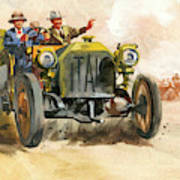 10,000 Mile Motor Race Poster