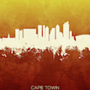 Cape Town South Africa Skyline 11 Poster