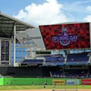 Atlanta Braves V Miami Marlins Poster
