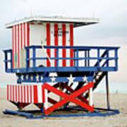 13th Street Lifeguard Tower - Miami Beach Poster