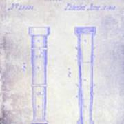 1860 Fire Hose Nozzle Patent Blueprint Poster