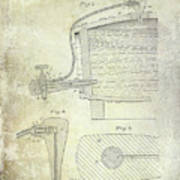 1881 Beer Faucet Patent Poster