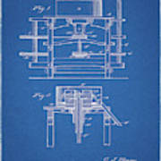 1885 Grist Mill Patent Poster