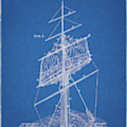 1885 Sails Patent Poster