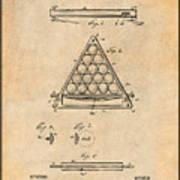 1891 Billiard Ball Rack Patent Print Antique Paper Poster
