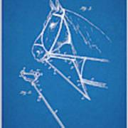 1891 Horse Harness Attachment Patent Print Blueprint Poster