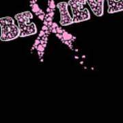 Breast Cancer Awareness Art For Warrior Women Dark Poster
