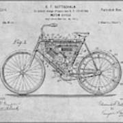 1901 Stratton Motorcycle Gray Patent Print Poster