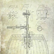 1902 Beer Tapping Device Patent Poster