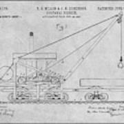 1903 Railroad Derrick Gray Patent Print Poster