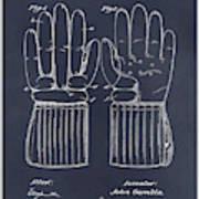 1914 Hockey Gloves Blackboard Patent Print Poster