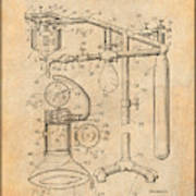 1919 Anesthetic Machine Antique Paper Patent Print Poster