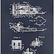 1919 Motor Driven Hair Clipper Blackboard Patent Print Poster