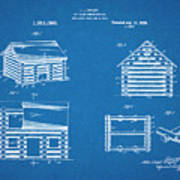 1920 Lincoln Logs Blueprint Patent Print Poster