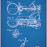 1924 Ice Cream Scoop Blueprint Patent Print Poster
