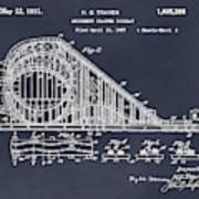 1927 Roller Coaster Blackboard Patent Print Poster