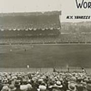 1927 World Series At Yankee Stadium Poster