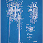 1929 Harley Davidson Front Fork Blueprint Patent Print Poster