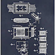 1930 Leon Hatot Self Winding Watch Patent Print Blackboard Poster