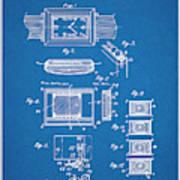 1930 Leon Hatot Self Winding Watch Patent Print Bluebrint Poster